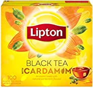 Lipton Flavoured Black Tea Cardamom, 100 Teabags