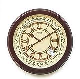 #9: Ajanta Premium Analog Wall Clock (Silent/Sweep Movement) Brown