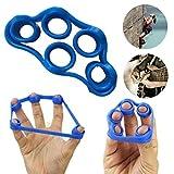 A-goo 2 Stück Hand Finger Stärke Übung Trainer Verstärkung Grip Widerstand Band Spannung