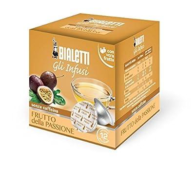 Bialetti Boîte de 12 Capsules Infusion Fruit de la Passion 2,66 g par Capsule 350 g