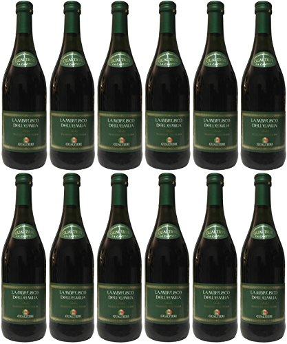 Lambrusco rosso dolce Gualtieri Dell`Emilia IGT mit Schraubverschluss (12 X 0,75 L) - Vino Frizzante...
