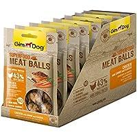 Gimdog superalimentos Meat Balls | luftgetrockneter Mono proteína Perros erli de Fuga de gallina Combina (Pack DE 8, 8x 70g)