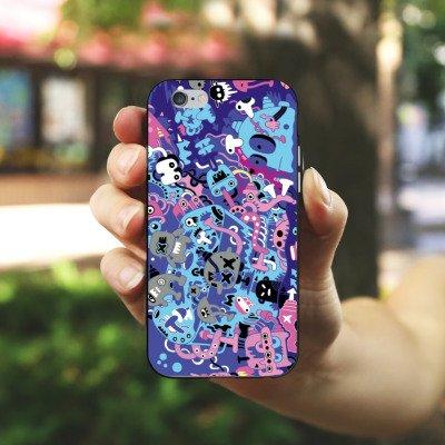 Apple iPhone 6 Housse Étui Silicone Coque Protection Bande dessinée Motif Motif Housse en silicone noir / blanc