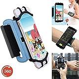 Outdoor Handy Schutzhülle | für Doogee Y6 Max/ 3D | Multifunktional Sport armband | zum Laufen, Joggen, Radfahren | SPO-3 Blau
