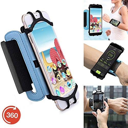 Outdoor Handy Schutzhülle | für SHIFT 5.1 | Multifunktional Sport armband | zum Laufen, Joggen, Radfahren | SPO-3 Blau