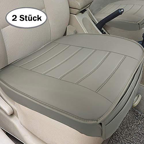 Big Ant Weich Sitzauflagen Auto Autositzbezug Autositzberzüge Sitzkissen Auto Sitzauflagen für Auto Vordersitze mit PU-Leder (Grau)