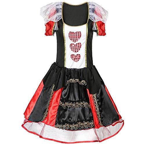 Herz Großes Clown Kostüm - Halloween Cosplay Grosse Herzen Queen Dress Up Kugel Königin Cosplay Uniform, Großes Herz, XXL