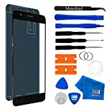 MMOBIEL Front Glas Reparatur Set für Honor 8 (Midnight Black) 5.2 Inch Display Touchscreen mit 11 TLG. Werkzeug-Set/passgenauem Klebe-Sticker/Pinzette / Saugnapf/Metall Draht/Tuch