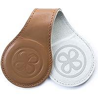 2 Stk Cloby Swaddle Magnet Clips Leather 2 Farbig Rückseite Canvas Grau Fixiert Ihren Sonnenschutz am Kinderwagen