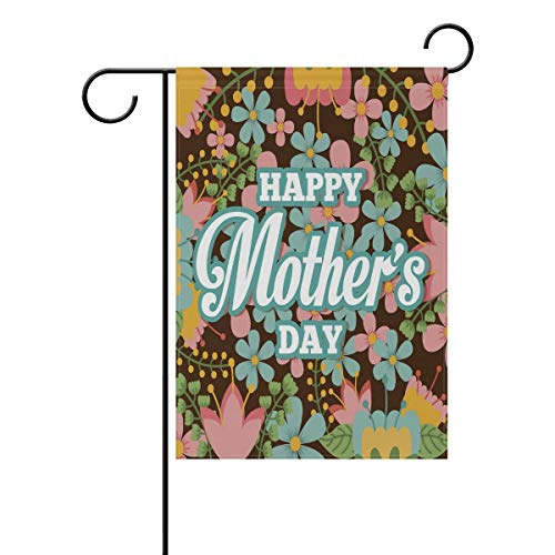 Confederate Flag Design (ASKYE Mothers Day Flower Design Polyester Garden Yard Flag Twin Sides, Tulip Mom Daisy Flora Decorative Flag Banner for Outdoor Home Decor Party(Size: 28inch W X 40inch H))
