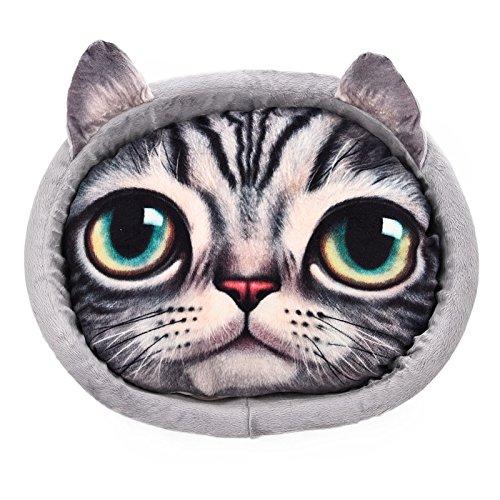 JIALUN-Haustier Simulation Katze druckt Hundebett-Haustier-Bett mit entfernbarem Kissen Tier druckt Matratze für kleine Hunde Katzen oder kleine Tiere ( Color : Gray )