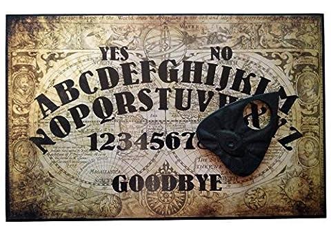 Plaque Ancien monde A4 finition main en bois assortie d'une planchette avec œil omniscient, planche style Ouija avec carte du monde détaillée