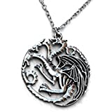 Orion Creations Game of Thrones joyas. Targaryen Daenery. kahleesi. Dragón de 3 cabezas colgante collar