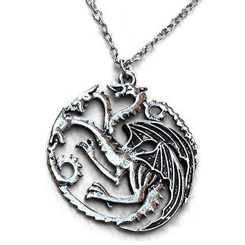 Game Of Thrones Bijoux. Daenerys Targaryen. Khaleesi. 3 Headed dragon