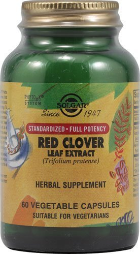 Solgar RED CLOVER Flower and leaf Extract - 60 Vegetarian capsules - EU-Compliant Test