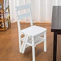 Comparador de precios YZYDZ Sillas Muebles Modernos Escalera Plegable de Madera Plegable Biblioteca Escaleras Escalera Cocina Oficina Uso,Blanco - precios baratos