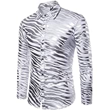 Amazon.es  camisa cuadros hombre - Plateado 1786a4d2d8f