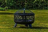 Kingfisher Fire Pits con design e lati esterni per mobili da giardino immagine