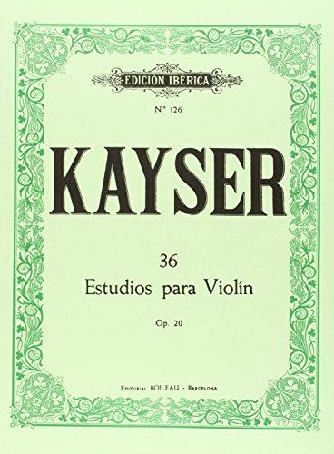 36 Estudios para violín