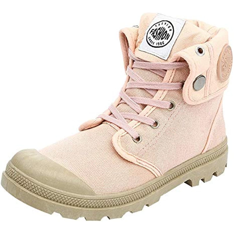 Holywin Bottes Femme Style Palladium Mode Haut-Haut Militaire Chaussures Chaussures Chaussures Cheville Chaussures D eacute;contract eacute;es - B07H7NZM2G - 58dfd1