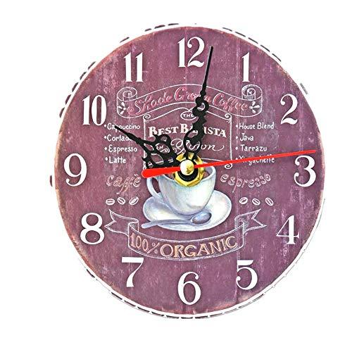 wczzh Quartz Lautlos Wanduhr Uhr Uhren Wall Clock Mini Kaffee Zeit Dekoration Pendeluhr rahmenlose MDF kleine Wanduhr 5 Zoll