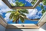 Tropischer Strand 3D-Dachfenster-An...