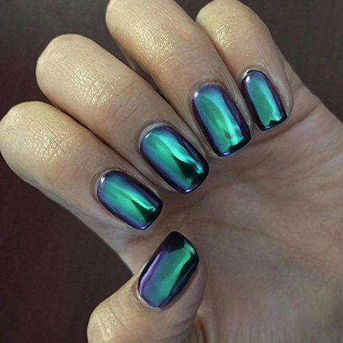 Ushion chrome effect powder polvere effetto specchio nail art camaleonte brillantini unghie - Polvere effetto specchio unghie ...