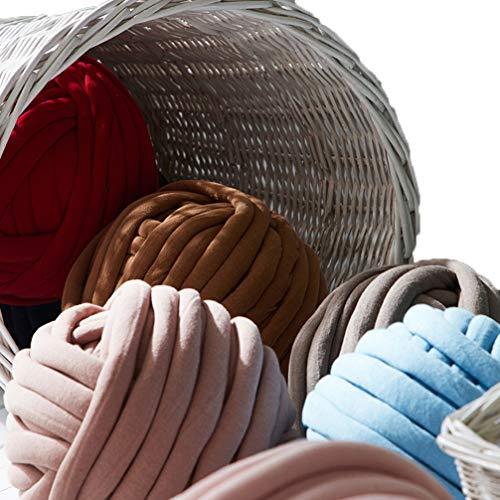 HYwot Felsige Dicke Wolldecke Nahtlose Wollkern Baumwolle Kerngarn verkauft Tasche handgefertigte gewebte Decke fertig, Kissen, Matte, Sofa, werfen, Cover, dekorativ,Khaki,500G -