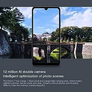 Xiaomi Redmi 7 Smartphone, 3GB RAM 32GB ROM Dual SIM Qualcomm Snapdragon 632 Octa 8MP Delantero 12MP + 2MP de Doble cámara (Negro)