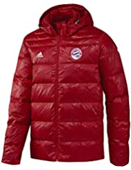 adidas FCB Down JKT - Chaqueta de la línea Bayern FC para hombre, color rojo / blanco, talla 3XL