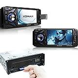 XOMAX XM-VRSU4309BT Autoradio mit Bluetooth Freisprechfunktion + 11 cm/ 4,3 Zoll Touchscreen Display + USB Anschluss + SD Kartenslot + AUX IN + Singel DIn / 1 DIN Standard Einbaugröße inkl. Fernbedienung, Einbaurahmen - 3