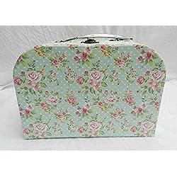 * HIC Co Valise Style IC Count Rose Floral Shabby Chic Country e Floral Medium X Medium Boîte de Rangement E Box