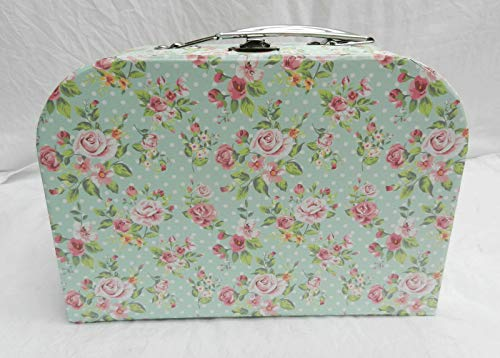 * HIC Co Valise Style IC Count Rose Floral Shabby Chic Country e Floral Medium X Medium Boîte de Rangement E Box