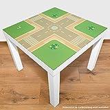 Playmatt Spielmatte für Tisch oder Boden Straße Kreuzung, schadstofffrei, rutschfest, waschbar, 55 x 55 cm, passt perfekt auf IKEA Lack Tisch