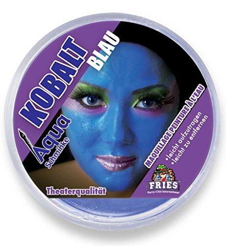 Aqua-Schminke in Theaterqualität, mehrere Farben, Fasching + Halloween (Kobalt-blau)