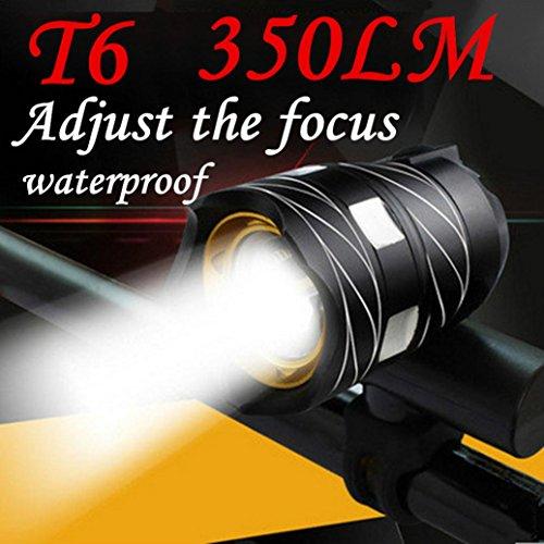 Preisvergleich Produktbild huichang 350LM LED Fahrradlicht mit USB Wiederaufladbare, LED Frontlichter Frontlich mit 1806 mAh Batterie Ideal für Mountainbikes,Straßenrädern,Camping (Schwarz)