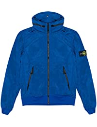 Stone Island Jacket - Spring Summer 2018 Junior Blue Nylon Metal Bomber Jacket – RRP £275 (681641535 V0027)