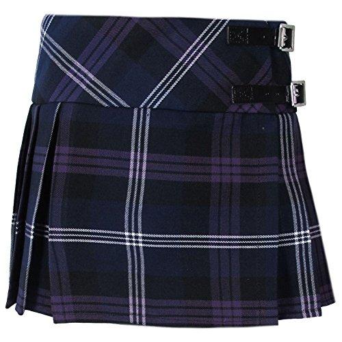 Tartanista - Mädchen Faltenröcke mit Tartanmuster - modern - mit Lederriemen - Honour of Scotland - 8 Jahre - Taille: 58cm (23