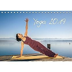 Yoga (Tischkalender 2019 DIN A5 quer): Meditatives Yoga am See (Monatskalender, 14 Seiten )