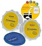Jemako Zitronenbalsam 700g (2x 350g) - Duopad blau mini Ø 9,5 - Sinland feinmaschiges Wäschenetz