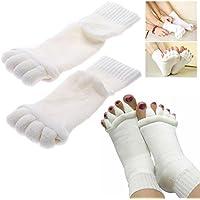 ShopSquare64 1 Paar Five Toe Separator Richtmaschine Massage Socken Fuß Ausrichtung Schmerzlinderung preisvergleich bei billige-tabletten.eu