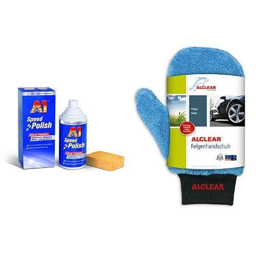Preisvergleich Produktbild A1 Speed Polish, 2700, 500ml und ALCLEAR Felgenhandschuh