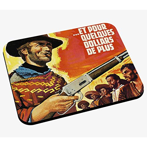 Mausunterlage Altes Französisch-Film-Plakat und für EIN Paar Dollar mehr Retro Vintage Film-Kino
