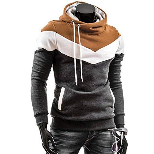 JiaMeng Heißer Männer Retro Langarm Hoodie Kapuzen Sweatshirt Tops Jacke Mantel Outwear Herren Tops (L2, Dunkelgrau)