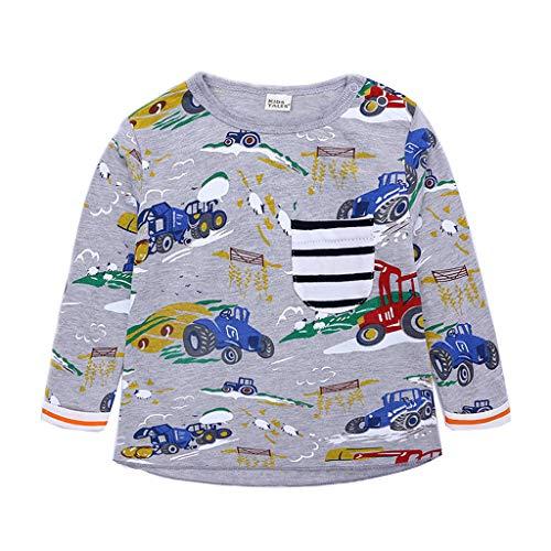 Makalon Baby Junge Mädchen Süß Karikatur Dinosaurier Drucken Bluse Kleinkind mit Langen Ärmeln Freizeit Sweatshirt T-Shirt Kinder Baumwolle weiche lässige Top Kleidung Outfits