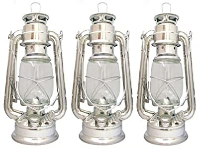 3 x PARAFFIN HURRICANE STORM LANTERN LIGHT LAMP OIL PARAFIN CAMPING HIKING from Hillington ®