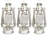 3 x PARAFFIN HURRICANE STORM LANTERN LIGHT LAMP OIL PARAFIN CAMPING HIKING