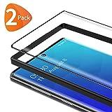 Bewahly Vetro Temperato Samsung Galaxy Note 10 [2 Pezzi], 3D Curvo Copertura Completa Pellicola Protettiva in Vetro Temperato per Samsung Galaxy Note 10 [Telaio di Installazione Incluso] - Nero