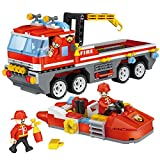 Vivir 354 Pieces Fire Fighter and Rescue Set Building Blocks for Kids Puzzle