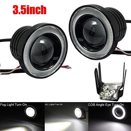 cm, Auto-Nebelscheinwerfer, COB-LED-Projektor, Halo-Ring, DRL Driving Birnen (weiß) ()
